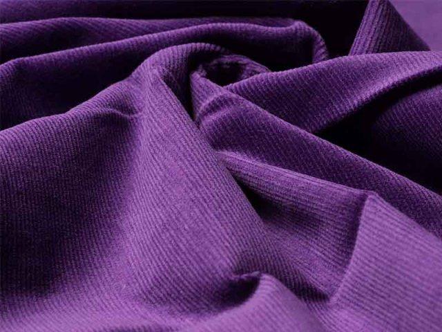 Feincord - Stretch - einfarbig - lila