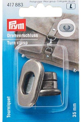 Drehverschluss für Taschen - 35mm -  altsilber - Prym