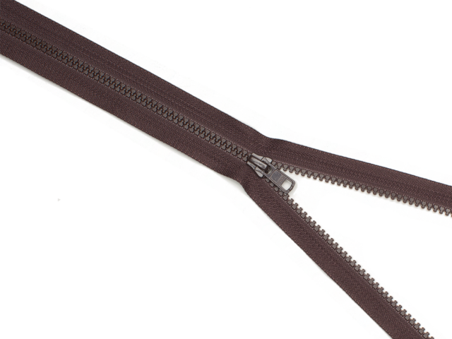 Reißverschluss YKK - palisander - 25-80cm - teilbar 70 cm