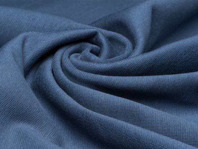 BIO Feinripp Jersey - Kim - dunkelblau