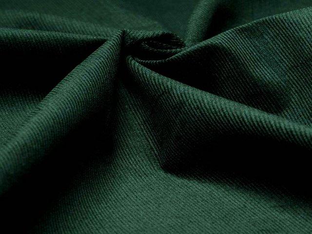 Feincord - Stretch - einfarbig - dunkelgrün