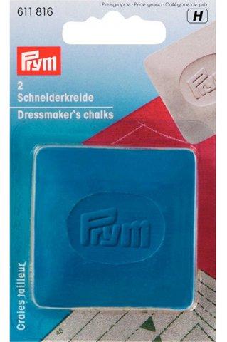 Schneiderkreide - weiß / blau/gelb - Prym blau/gelb