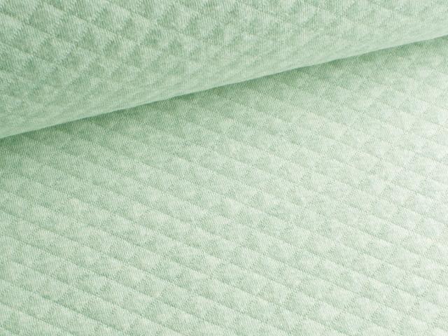 Baumwollstepp - hellgrün - meliert