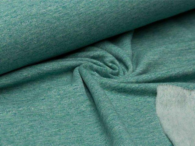 Sweat - grün - meliert - angeraut