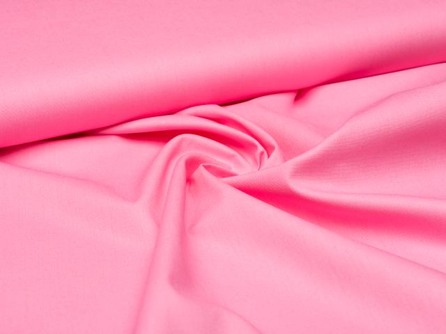 Baumwolle - uni - pink hell