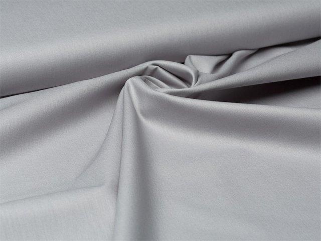 Baumwolle - uni - grau