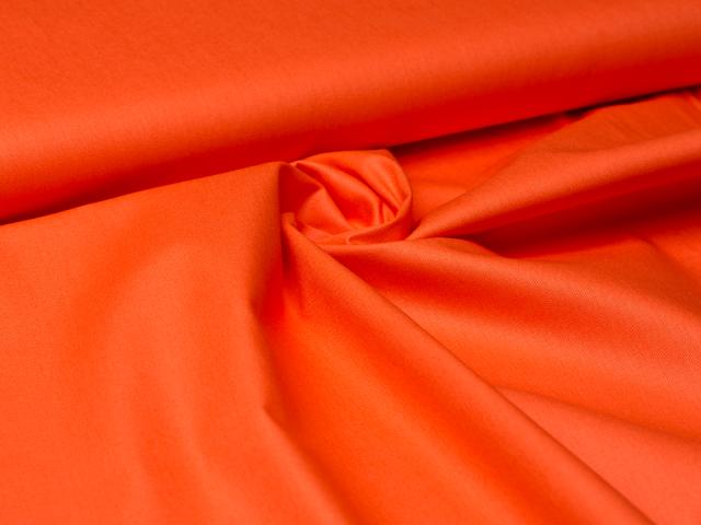 Baumwolle - uni - orange