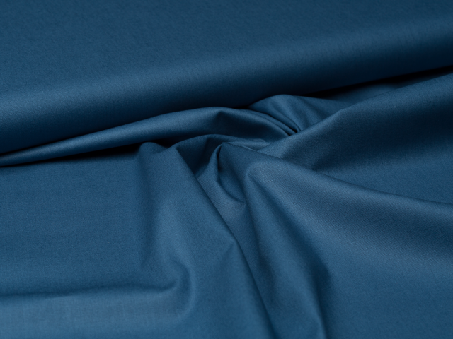 Baumwolle - uni - indigo blau