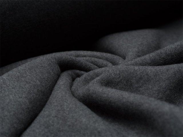 BIO Fleece  - dunkelgrau meliert