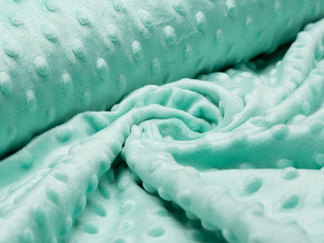 Minky Fleece - Punkte - mint