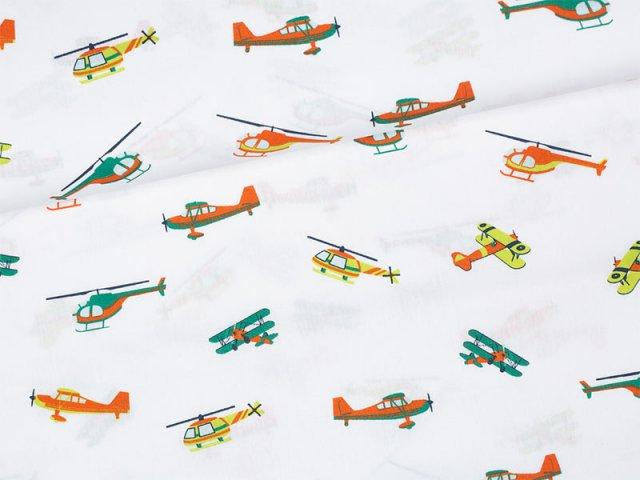 Baumwolle - in the air - Flugzeuge - Hubschrauber - weiß