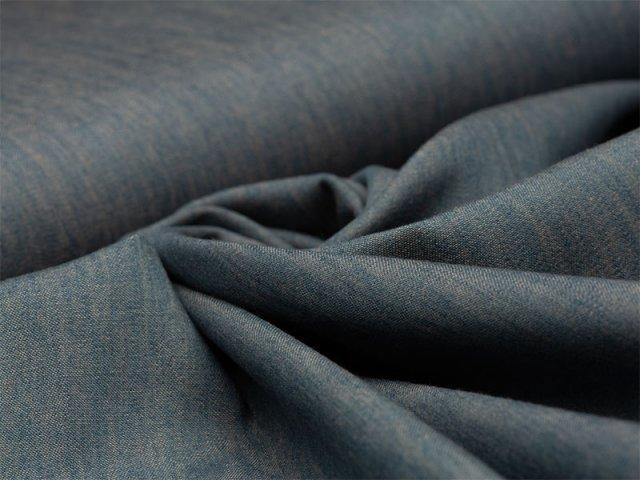 Jeans - melange - rauchblau - orange