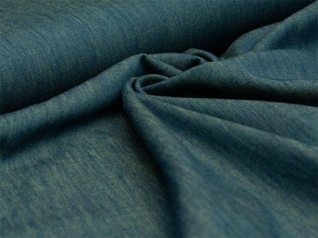 Reststück 1,10m - Jeans - melange - blau - grün