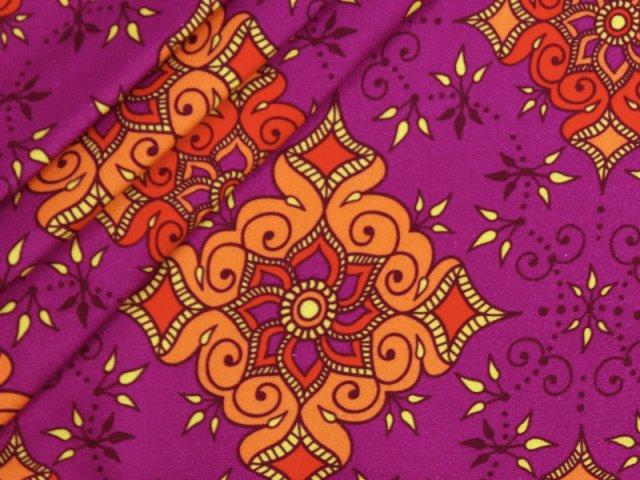 BIO Sweat - Colourful Indian - beere - EXKLUSIV DESIGN