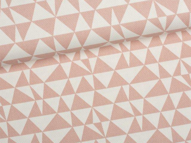 Canvas - Dreiecke - Tillisy - altrosa