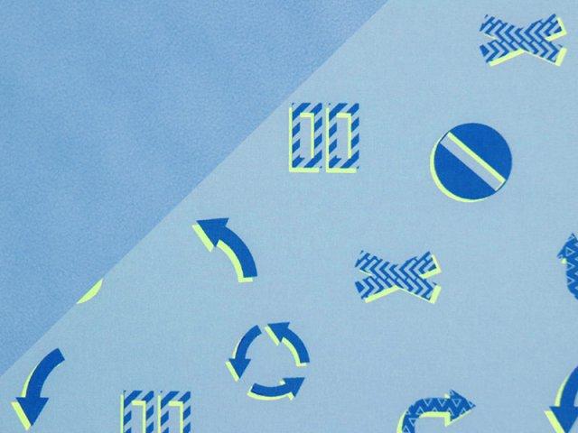 Softshell - Pfeilen - Schilder - blau
