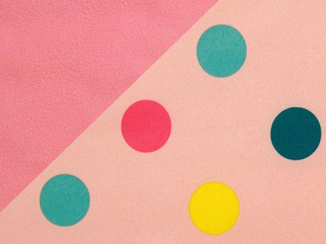 Softshell - Punkte - Dots - rosa