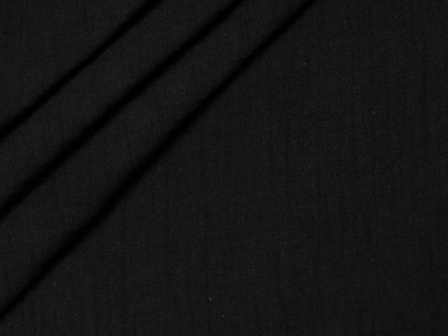 Bio Musselin - Double Gauze - uni - schwarz