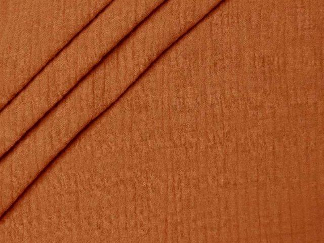 Bio Musselin - Double Gauze - uni - orange