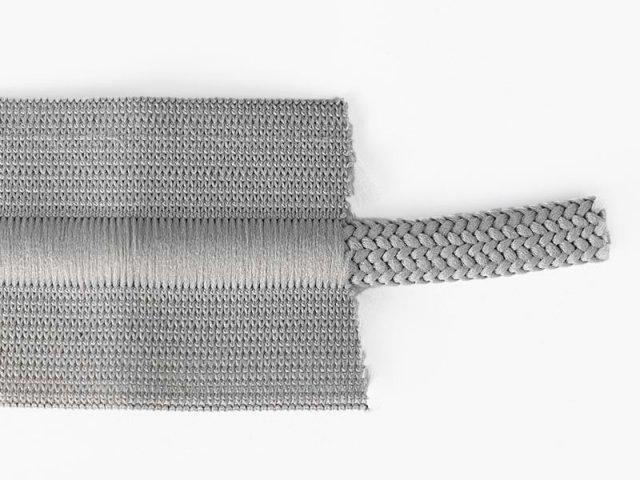 Gummiband mit Kordel - 38mm - viele Farben graubraun