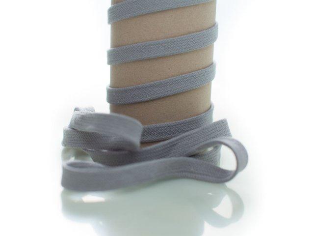 Kordel - 12mm - flach - grau