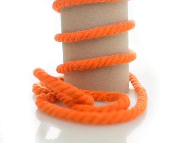 Kordel - 10mm - rund - orange