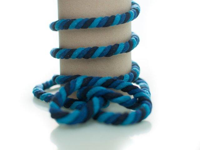 Kordel - 10mm - rund - dunkelblau - blau - hellblau