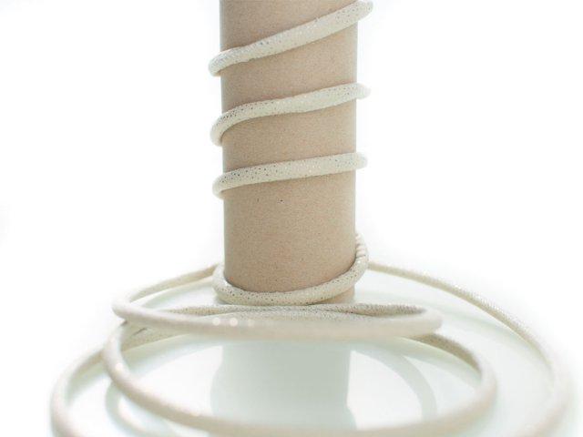 Kordel - 5mm - Glitzer - rund - natur