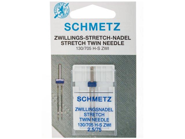 Zwillingsnadel - 130/705 H-S - 2,5/75 - Schmetz