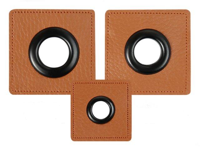 Patch - Quadrat - braun - schwarz