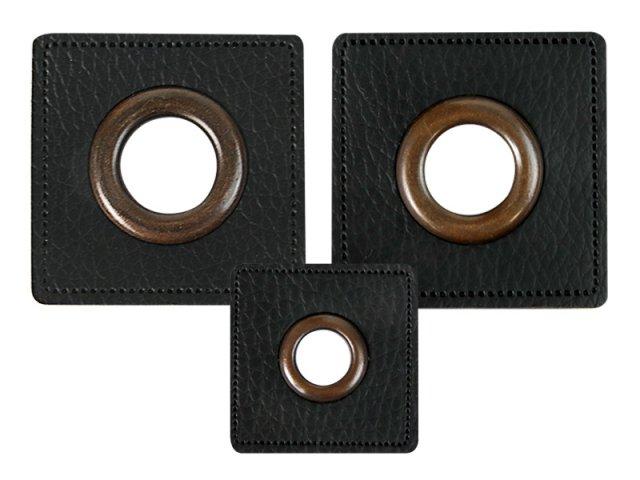 Patch - Quadrat - schwarz - altkupfer