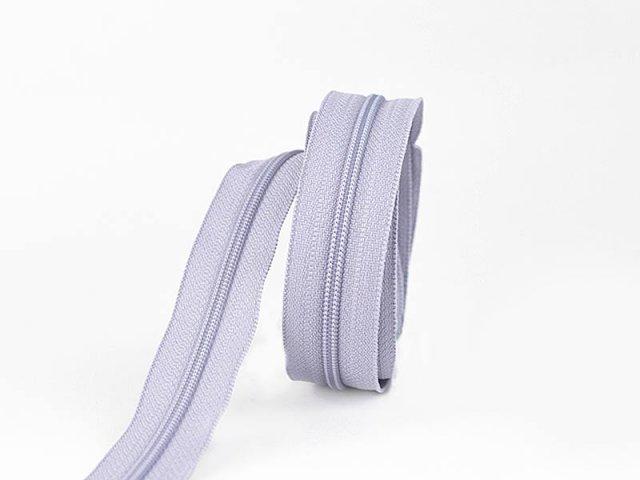 Reißverschluss YKK  - endlos - lila grau