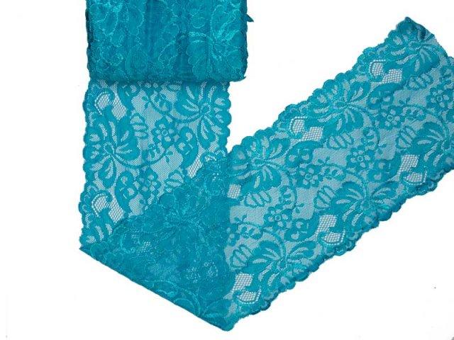 Spitze elastisch - 150mm breit - aqua