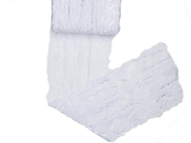 Spitze elastisch - 150mm breit - weiß