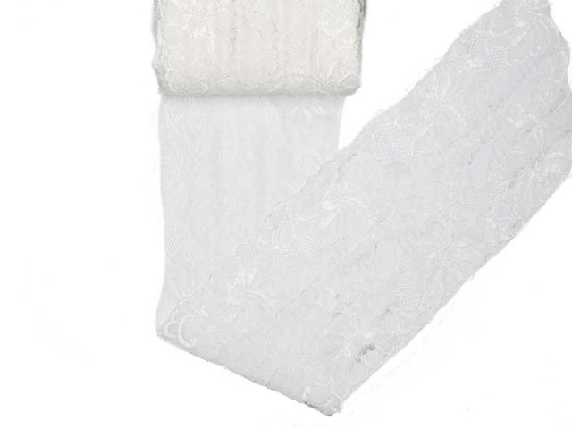 Spitze elastisch - 150mm breit - creme