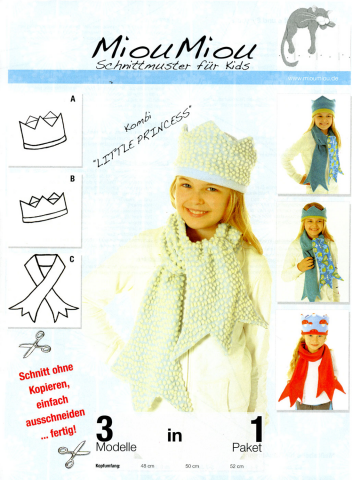 Schnittmuster - Little Princess - Mütze - V9050 - Miou Miou