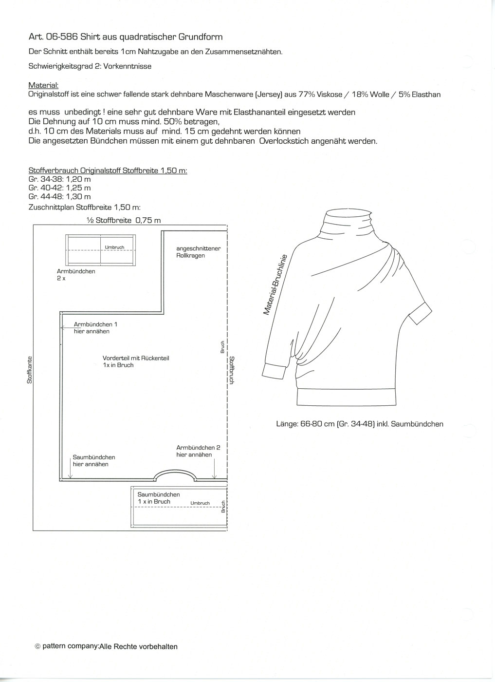 Schnittmuster - Shirt - 06-586 - Pattern Company