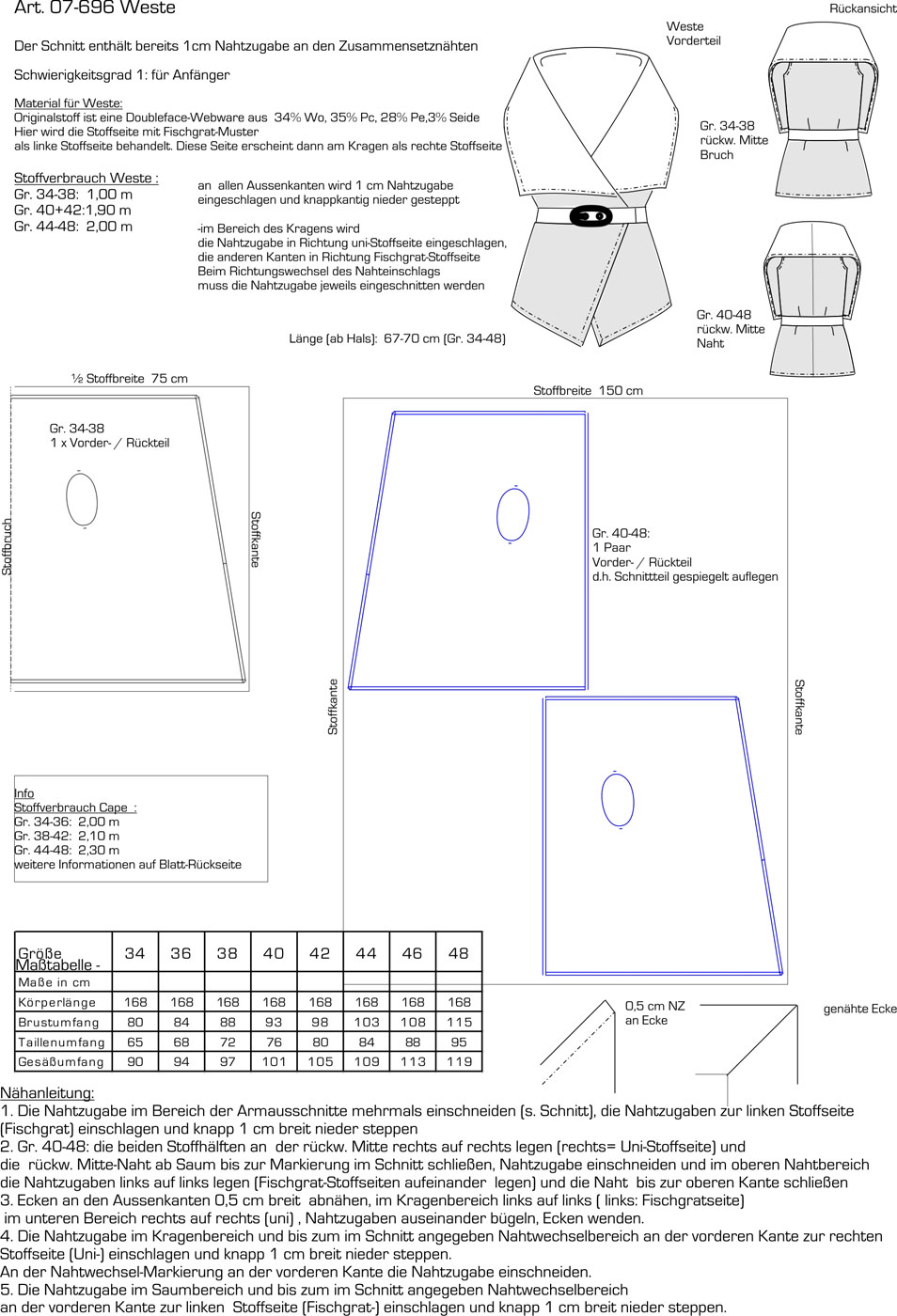 Schnittmuster - Weste - 07-696 - Pattern Company