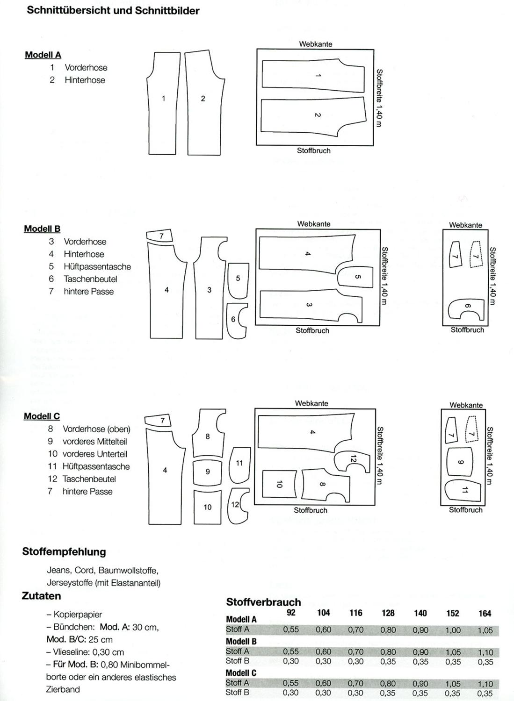 Schnittmuster - Hose Jan & Jara - V9030 - Miou Miou