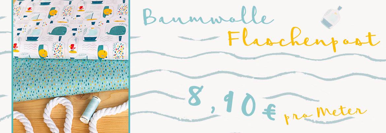Banner-Baumwolle-Flaschenpost