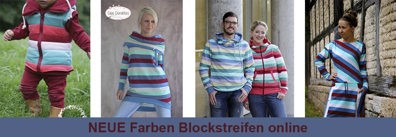 Blockstreifen NEUE Farben