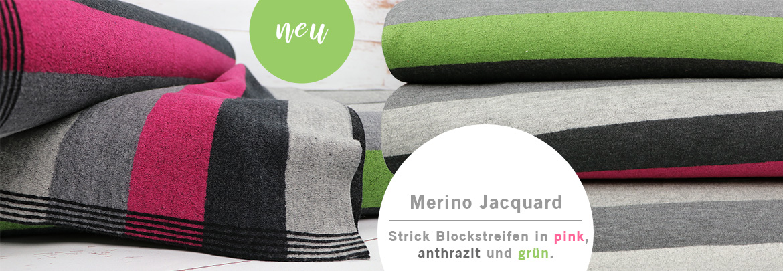 Merino Jacquard Stick Blockstreifen