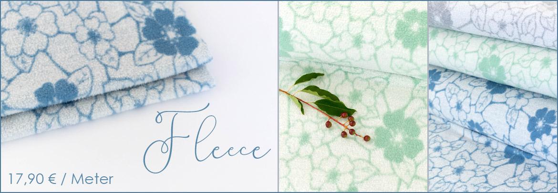 Blumen-Fleece